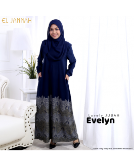 Jubah EVELYN Navy Blue