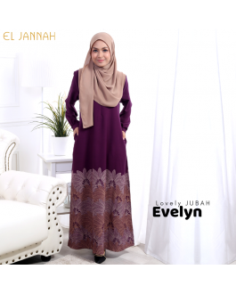 Jubah EVELYN Royal Purple