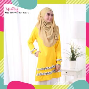 Baju Muslimah MED0089 Golden Yellow