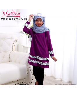 Baju Muslimah Girl MC0089 Royal Purple