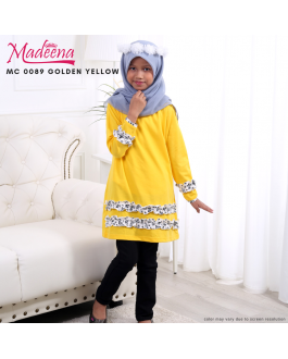 Baju Muslimah Girl MC0089 Golden Yellow