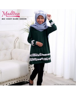 Baju Muslimah Girl MC0089 Dark Green
