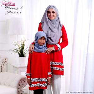 Baju Muslimah MED0089 Lipstick Red
