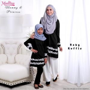 Baju Muslimah MED0089 Black
