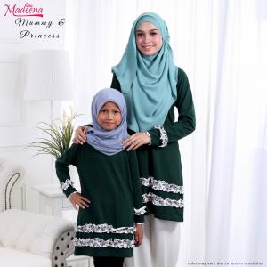 Baju Muslimah MED0089 Dark Green