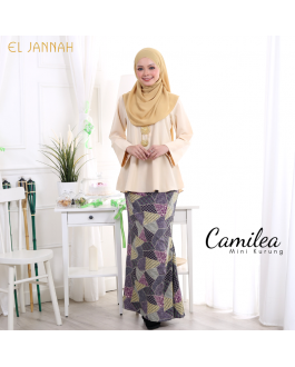 Mini Kurung CAMILEA Cream Yellow