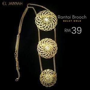 RANTAI BROOCH Bulat Gold