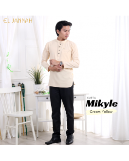 Kurta MEN MIKYLE Cream Yellow