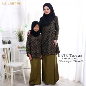 Kurung Riau KATE TARTAN Olive Green