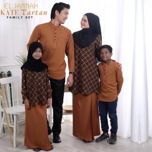Kurung Riau KATE TARTAN Yellow Marigold