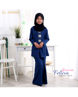 Kebaya Girl FELICIA Denim Blue