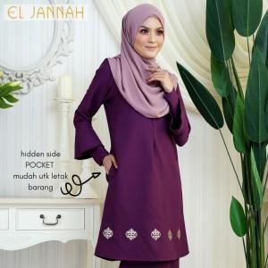 El Jannah Baju Kurung Purple Dokoh