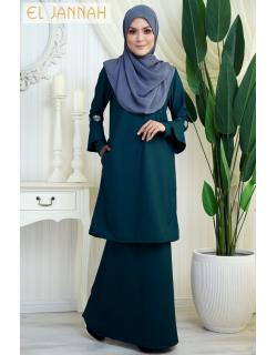 El Jannah Baju Kurung Turquoise Dokoh