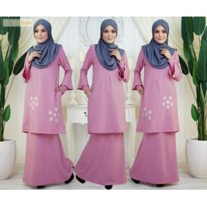 El Jannah Baju Kurung Dusty Pink Dokoh
