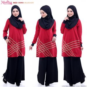 Baju Muslimah MED0090 Maroon