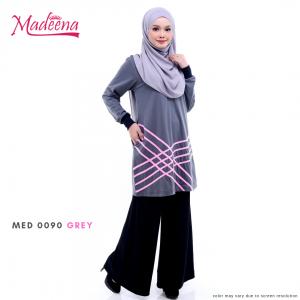 Baju Muslimah MED0090 Grey