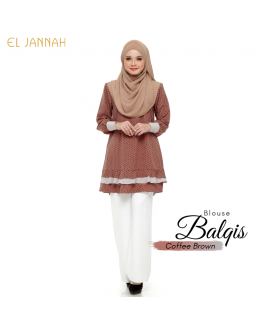 El Jannah Blouse Balqis Coffee BROWN