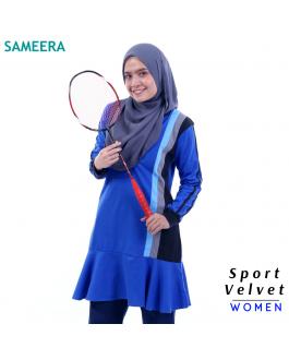Baju Muslimah Sport Velvet Women (Biru) 2.0
