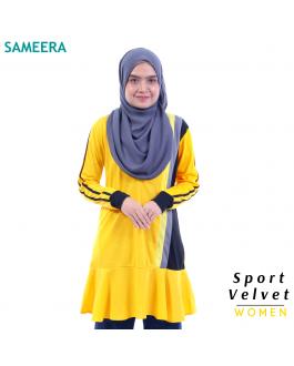 Baju Muslimah Sport Velvet Women (Kuning) 2.0