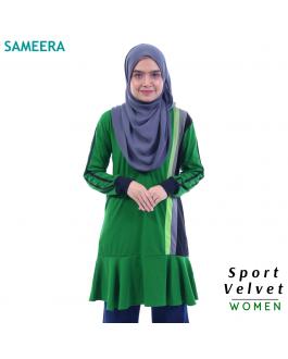 Baju Muslimah Sport Velvet WOMEN (Hijau) 2.0