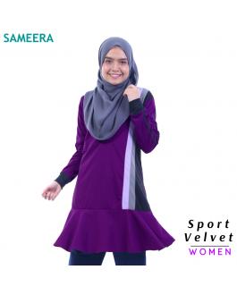 Baju Muslimah Sport Velvet WOMEN (Purple) 2.0
