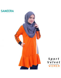 Baju Muslimah Sport Velvet WOMEN (Oren) 2.0