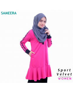 Baju Muslimah Sport Velvet WOMEN (Pink) 2.0