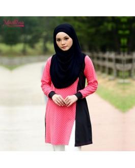 Baju Muslimah MED0091 Salmon Pink