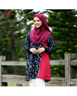 Baju Muslimah MED0091 Navy Blue