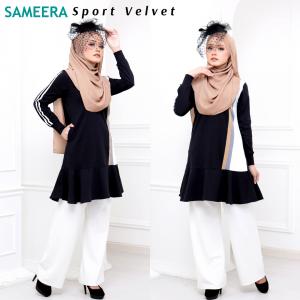 Baju Muslimah Sport Velvet Women (Black)