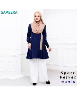 Baju Muslimah Sport Velvet Women (Navy Blue)