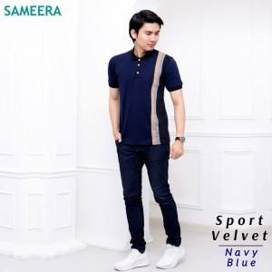 Polo Shirt Sport Velvet MEN (Navy Blue)