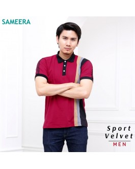 Polo Shirt Sport Velvet MEN (Maroon)