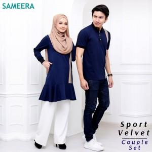 Boy Tshirt Sport Velvet (Navy Blue)