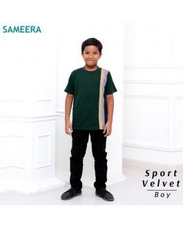 Boy Tshirt Sport Velvet (Emerald Green)