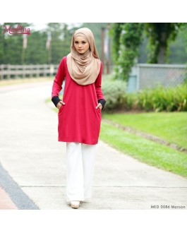 Baju Muslimah MED0086 Maroon