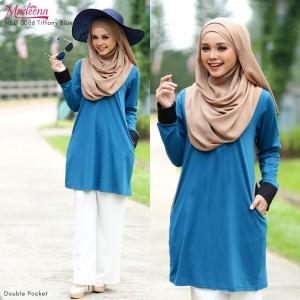 Baju Muslimah MED0086 Tiffany Blue