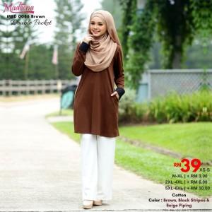 Baju Muslimah MED0086 Brown
