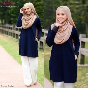 Baju Muslimah MED0086 Navy Blue