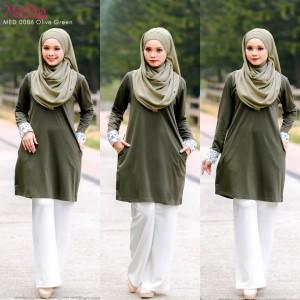 Baju Muslimah MED0086 Olive Green