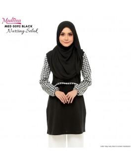 Baju Muslimah Nursing Selak MED0092 Black