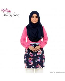 Baju Muslimah Nursing Selak MED0092 Pink