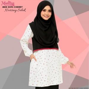 Baju Muslimah Nursing Selak MED0092 Cherry