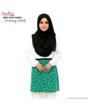 Baju Muslimah Nursing Selak MED0092 Green