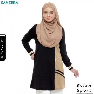 Baju Muslimah Evian Sport Women (Black)