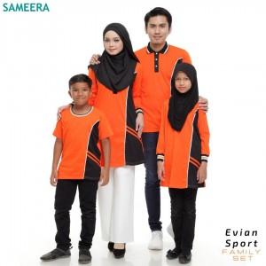 Baju Muslimah Evian Sport Women (Orange)