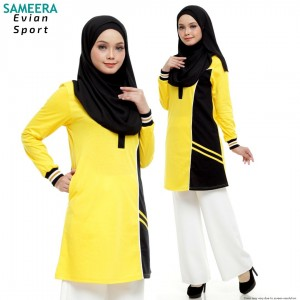 Baju Muslimah Evian Sport Women (Yellow)