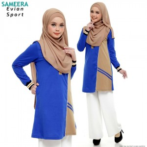 Baju Muslimah Evian Sport Women (Blue)