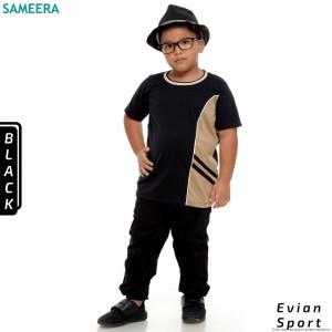 Boy Tshirt EVIAN SPORT (Black)