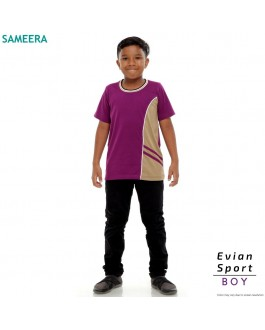 Boy Tshirt EVIAN SPORT (Purple)